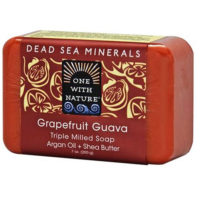 One with Nature Dead Sea Minerals Grapefruit Guava Soap Bar