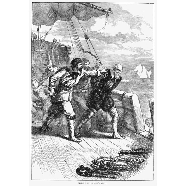 Henry Hudson (D. 1611). /Nenglish Navigator. The Crew Of The 'Discovery' Co