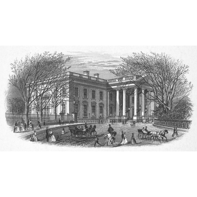 White House, C1870. /Nnorth Front Of The Executive Mansion In Washington, D