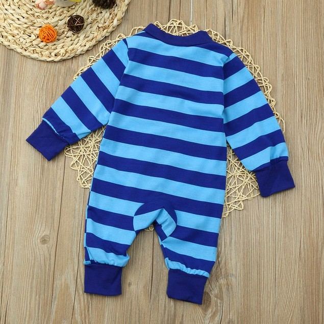 Toddler Baby Girl Boy Long Sleeve Striped Romper Jumpsuit Pajamas Outfits