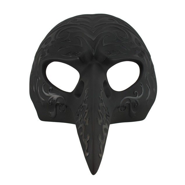 Black Patterned Crow Beak Carnival Mask Wall Wall Sculptures