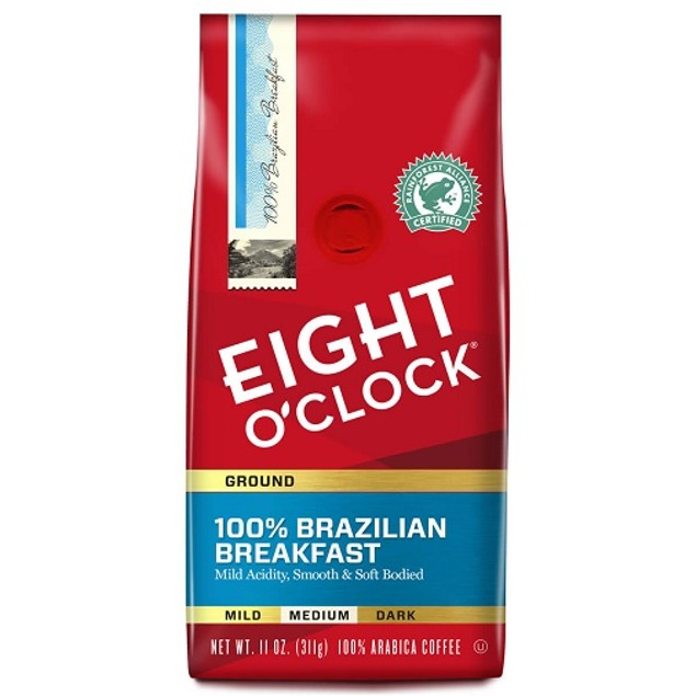 Eight O'clock 100% Brazilian Breakfast Ground Coffee
