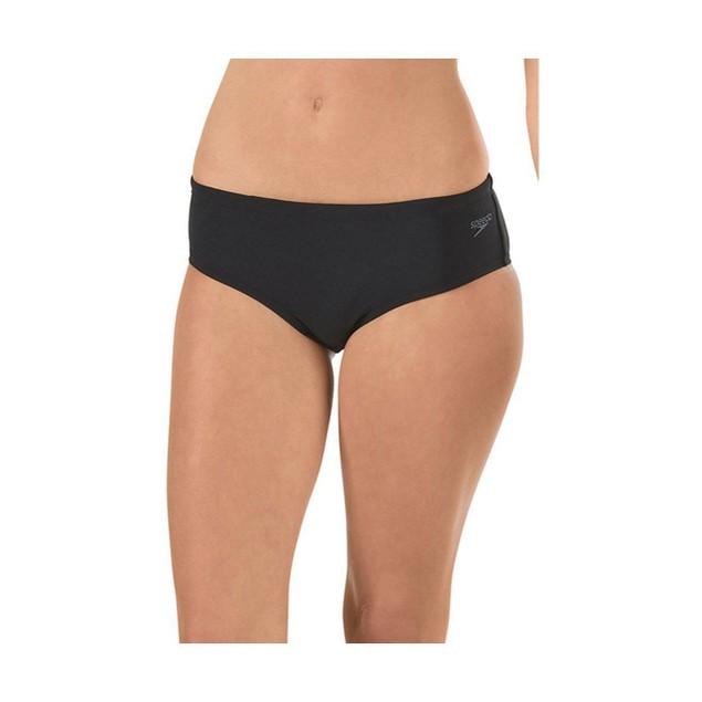 Speedo Women's Endurance Lite Solid Fitness Boy Short, Speedo Black, Size 6