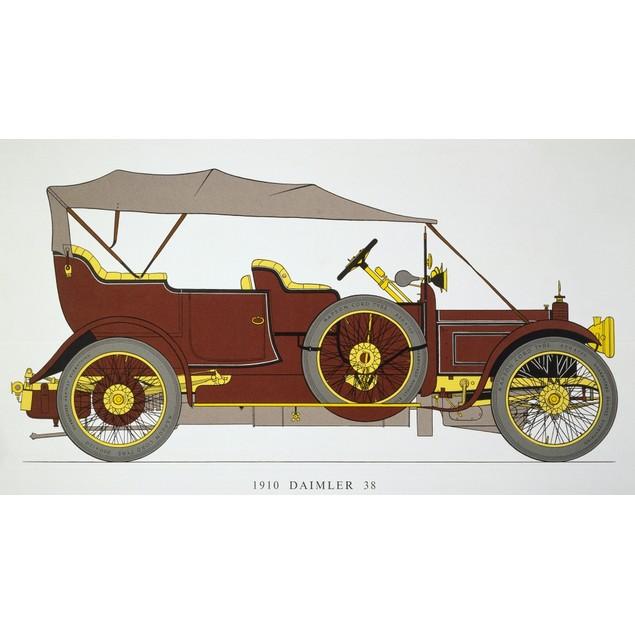 Auto: Daimler 38 Hp, 1910. Poster