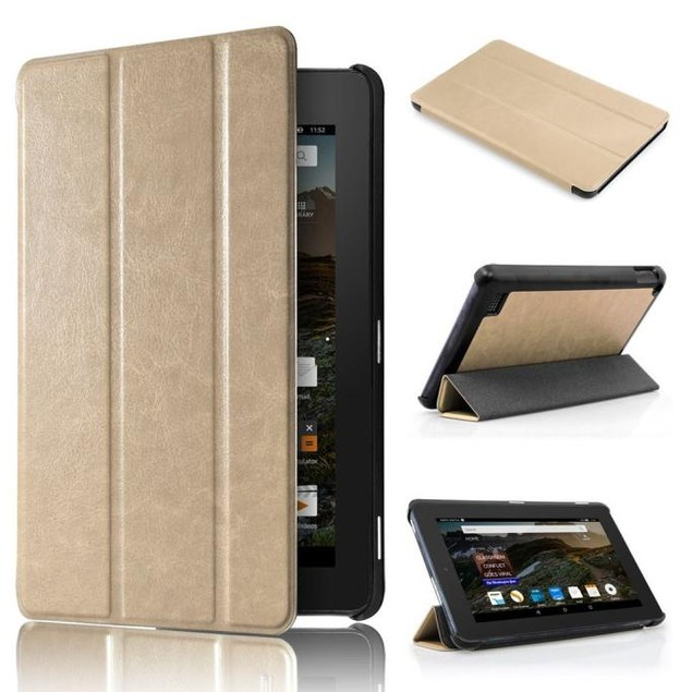 Leather Case Stand Cover for 7 Amazon Kindle Fire HD 7 2015 Tablet