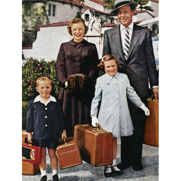 Samsonite Ad, 1956. /Nan American Family Ready For Travel, In An Advertisem