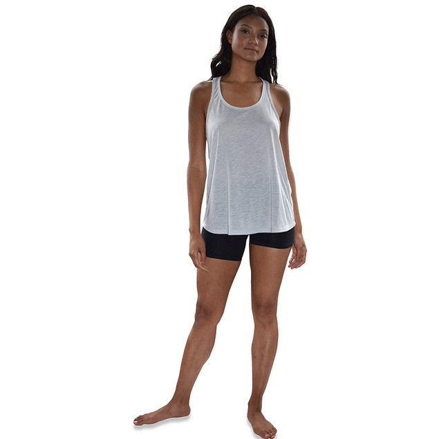 5-Pack Women's Flowy Burnout Racer Back Active Workout Tank Tops
