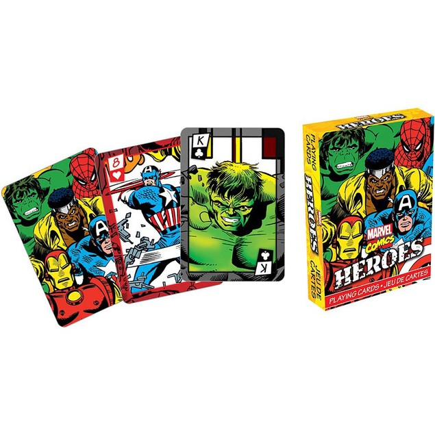 Marvel Comics Heroes Playing Cards, Cartoons | Comics by NMR Calendars