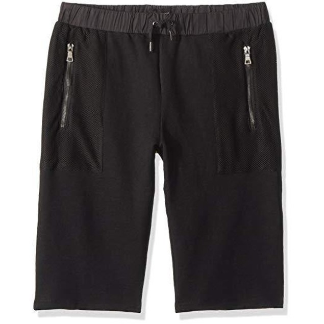 HUDSON Big Boys' Terry Short, Black, XL