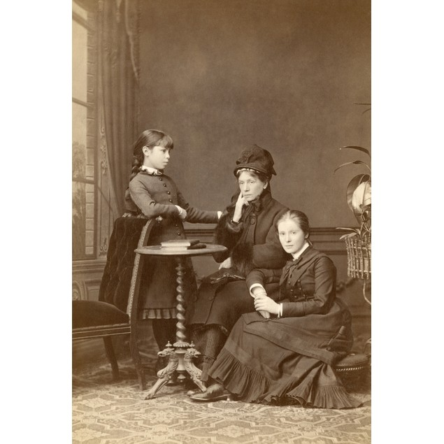 Mother And Daughters. /Noriginal Cabinet Photograph, Heidelberg, Germany, C