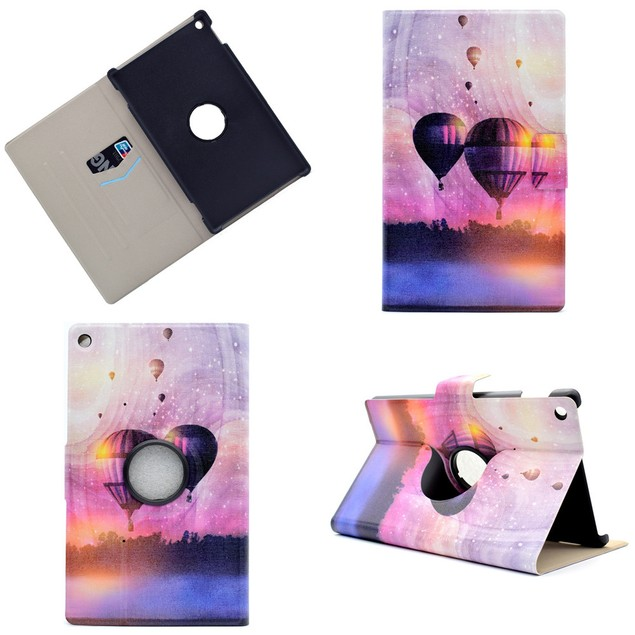 Folding Stand Painted Leather Case Cover For Amazon Kindle Fire HD 8 2016