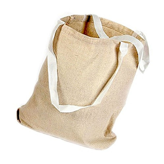 Set of 12 (8 x 8) Natural Color Sack Party Reusable Lunch Bag