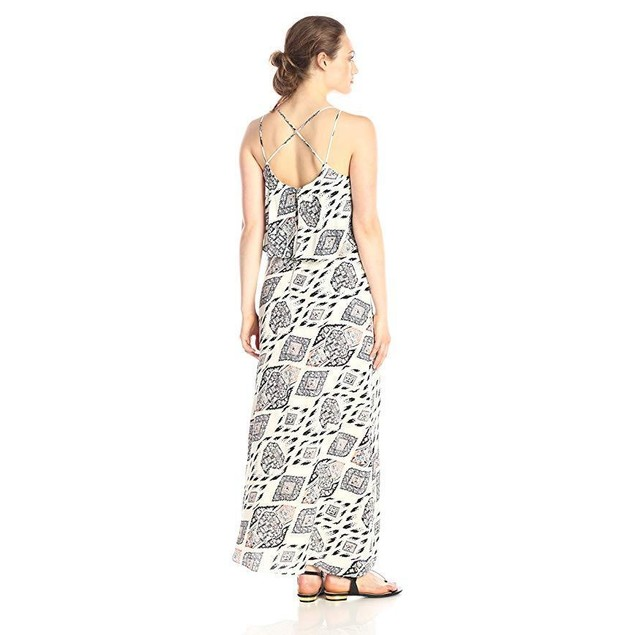 Vince Camuto Women's Marrakesh Tapestry Maxi Dress, Antique/White, 14