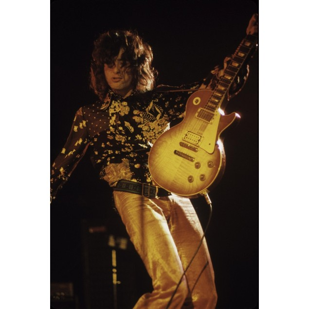 Jimmy Page in Orange Light Poster
