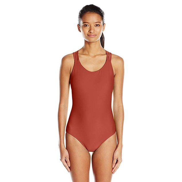 Body Glove Women's Smoothies U and Me One Piece Swimsuit, Terracotta, SZ M