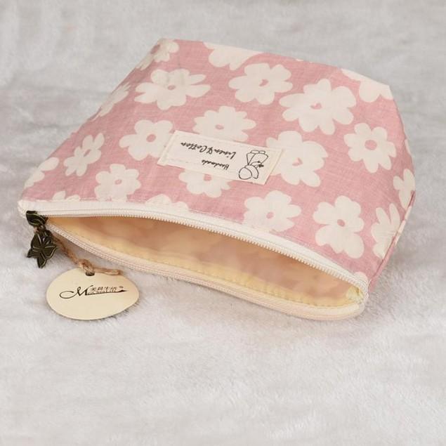 Flower-Printed Travel Cosmetic Bag - 3 Colors