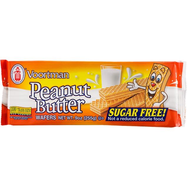 Voortman Peanut Butter Sugar Free Wafers Cookies