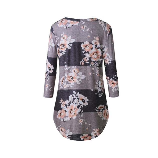 Curved Floral Shirt
