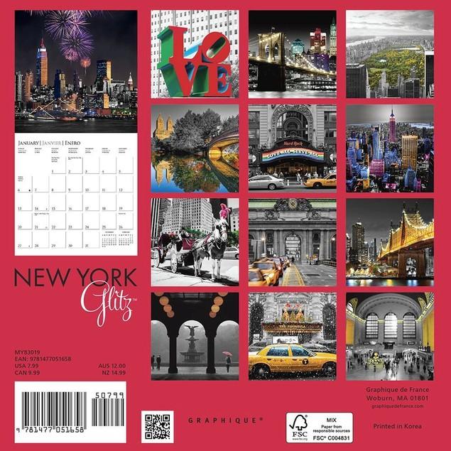 New York Glitz Mini Wall Calendar, New York City by Calendars