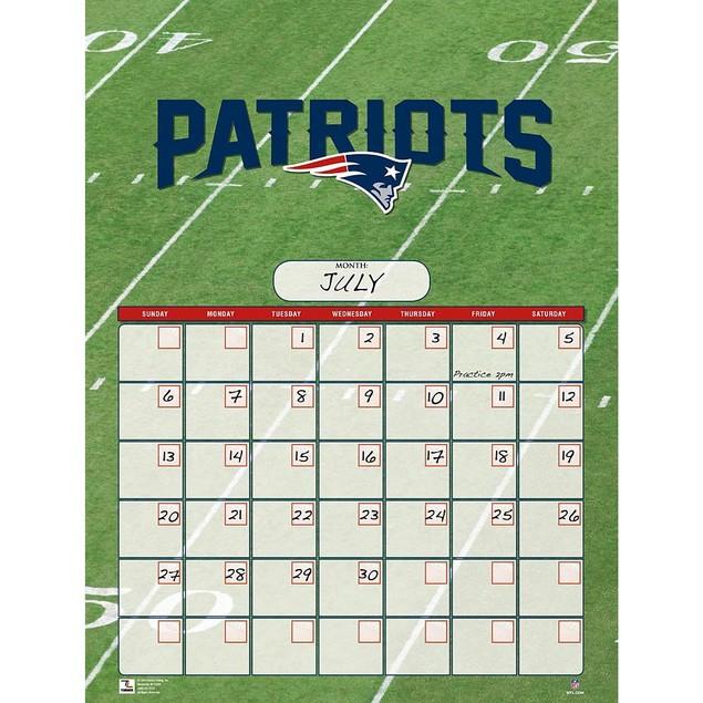 New England Patriots Perpetual Calendar