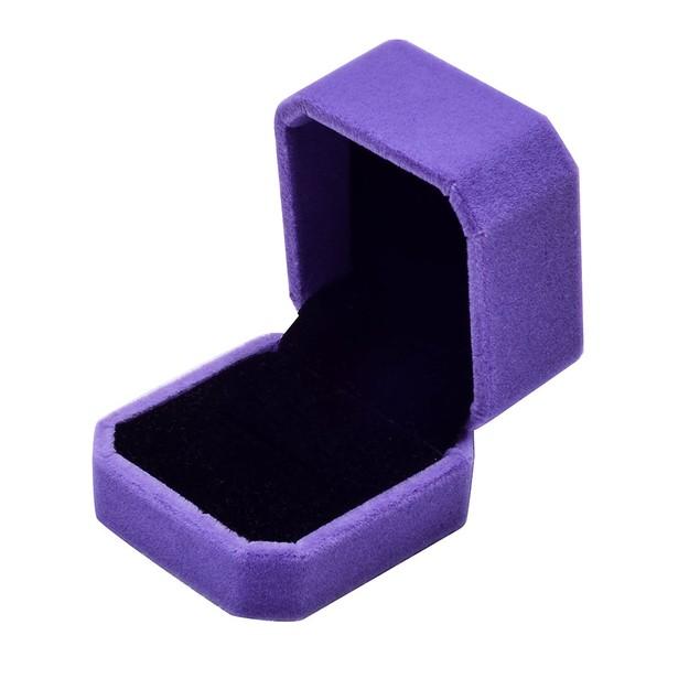 Luxuxy Velvet Wedding Earring Ring Jewelry Pendant Display Box Black