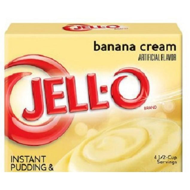 Jell-O Banana Cream Instant Pudding Dessert Mix 5.1 oz Box