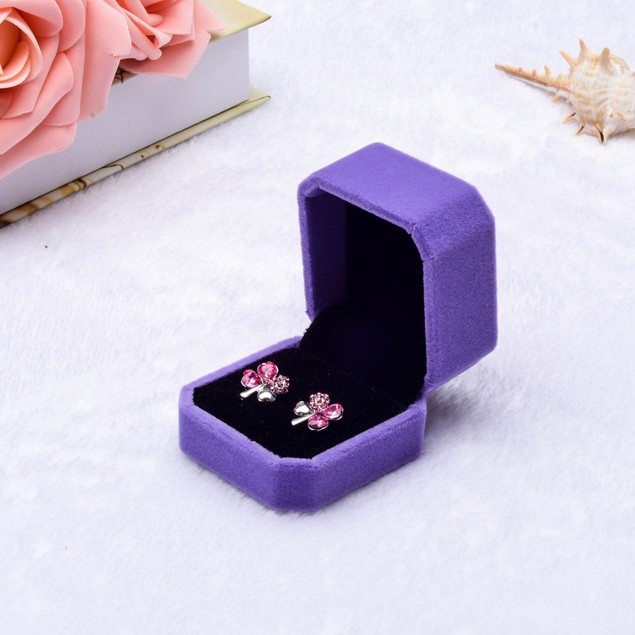Velvet Ring Jewelry Gift Box - Assorted Colors
