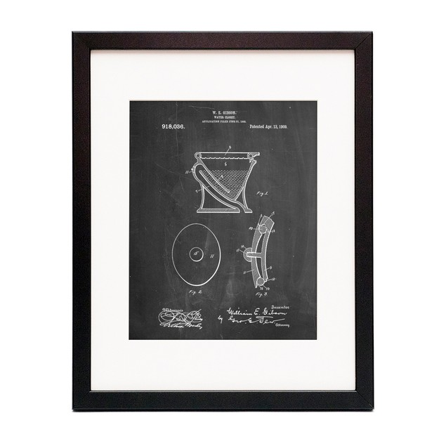 Siphoning Water Closet 1909 Patent Poster