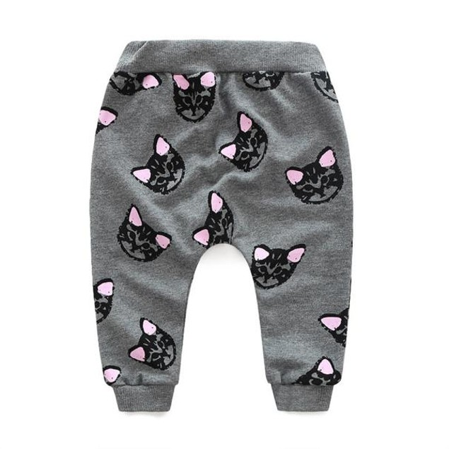 Baby Kids Set Clothes Long Sleeve Cats Print Tracksuit +Pants Outfits