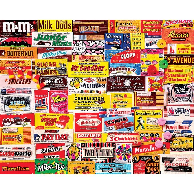 Charlie Girard Candy Wrappers 1000 Piece Puzzle, 1,000 Piece Puzzles by Whi