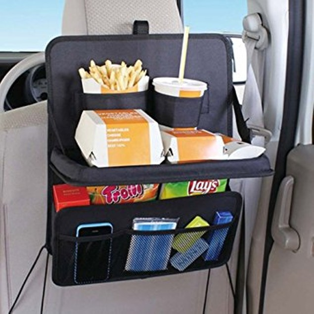 Backseat Car Organizer with Food Tray