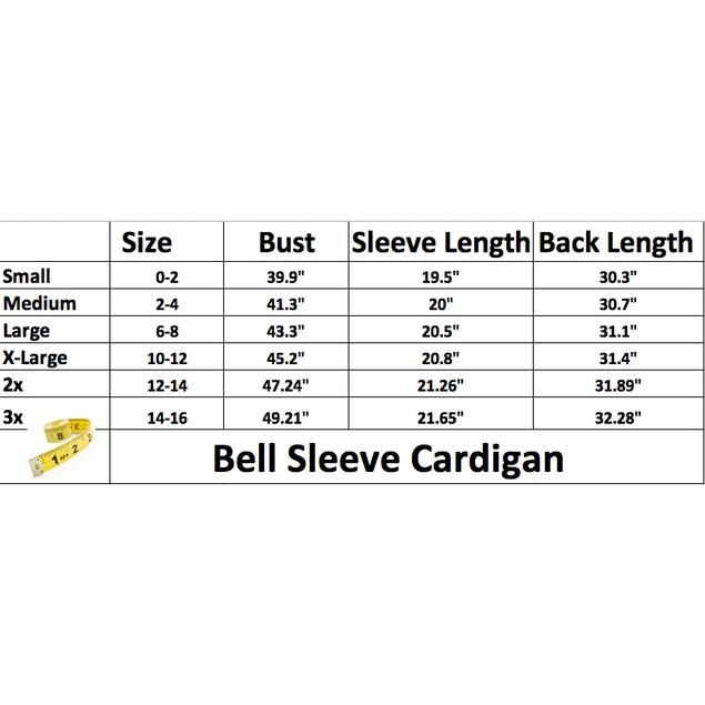 Bell Sleeve Cardigan