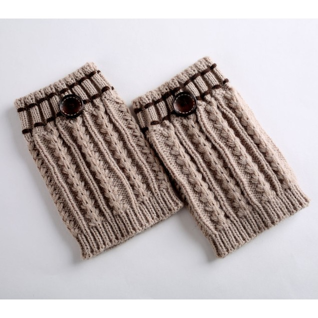 1 Pair Knitted Leg Warmers Socks Boot Cover