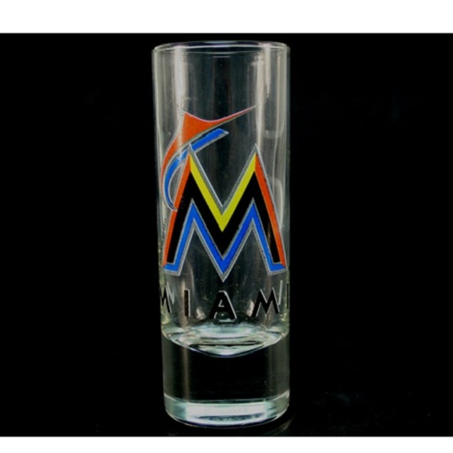 "Miami Marlins MLB ""Hype"" Tall Shot Glass"