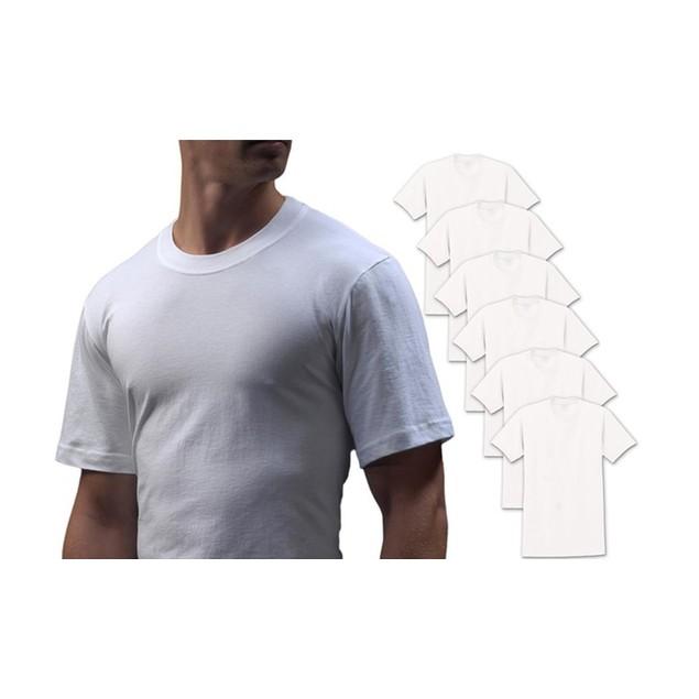 3-Pack Big Man Cotton Crew Neck Undershirts in 2X-6X
