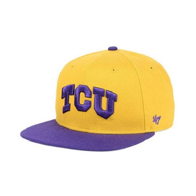 "TCU Horned Frogs NCAA 47 Brand ""Sure Shot"" Flat Bill Snapback Hat"