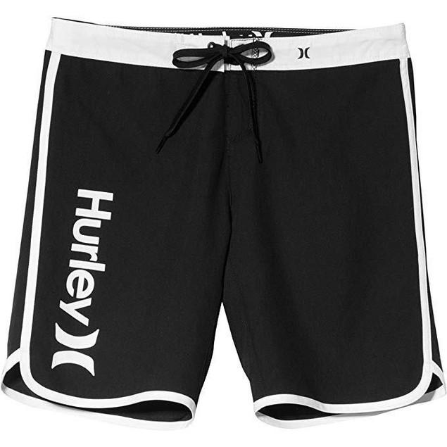 "Hurley Women's Supersuede Solid 9"" Beachrider Boardshorts Black SZ 00"