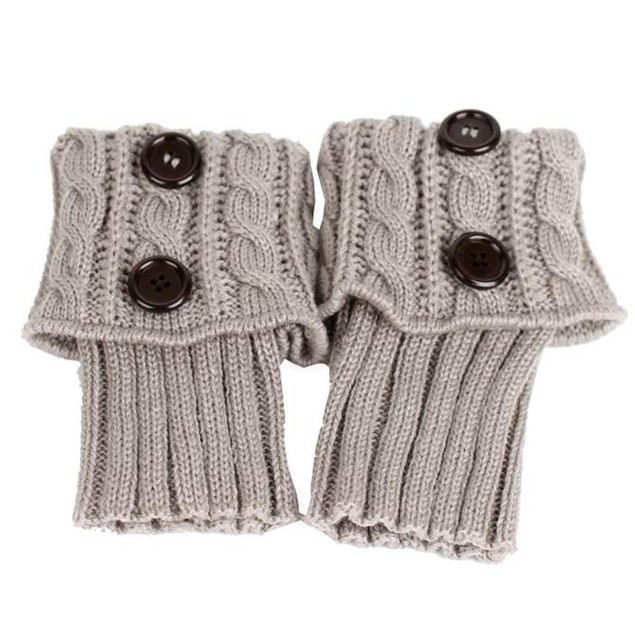 Knitting  Socks Leg Warmers  Boot Cover Keep Warm Socks