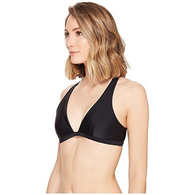 Rip Curl Women's Designer Surf Lattice Halter Bikini Top, Black SIZE X