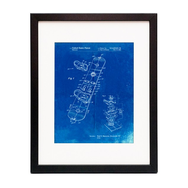 Snowboard Patent Poster