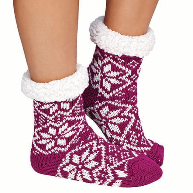 3-Pair Mystery Deal: Women's Ultra-Soft Fluffy Sherpa Anti-Slip Socks