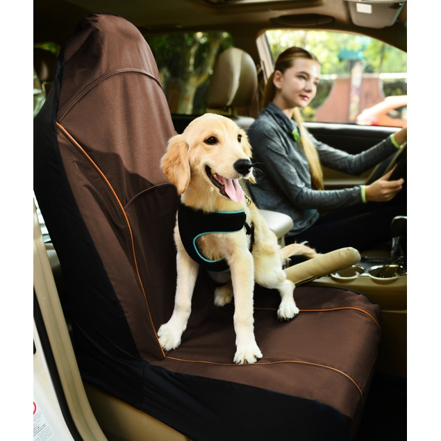 Pet Life Mess-Free Single Seated Car Seat Cover Protector For Dog & Cats