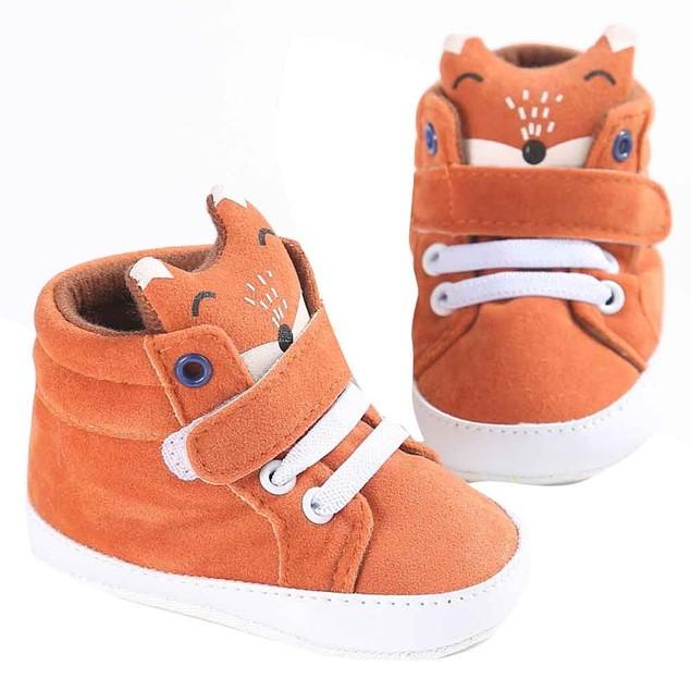 Baby Girl Boys Fox Hight Cut Shoes Sneaker Anti-slip Soft Sole Toddler