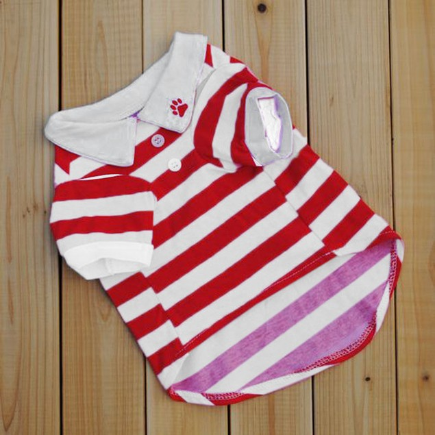 Striped T-Shirt for Dogs