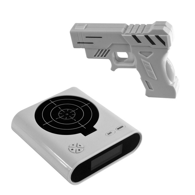 Gun & Target Recordable Alarm Clock by Trademark Games