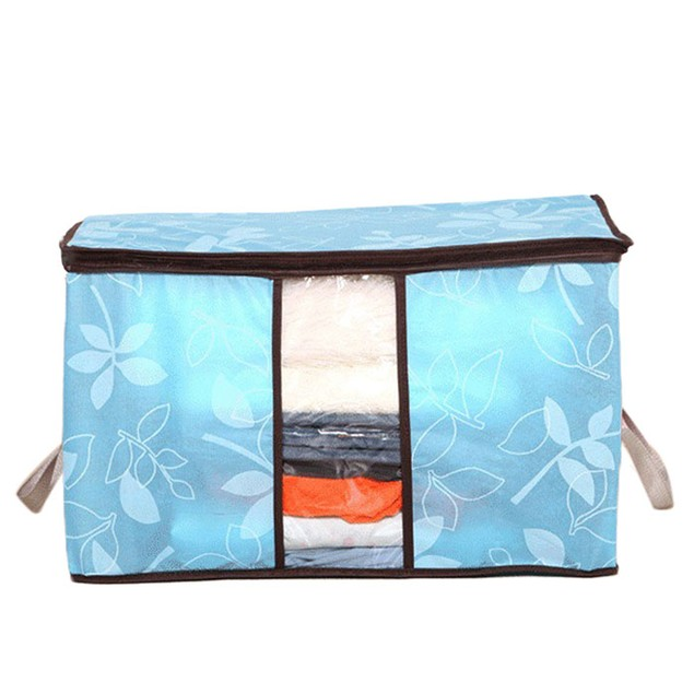 Flower Print Quilted Storage Bag with Handles - 4 Colors