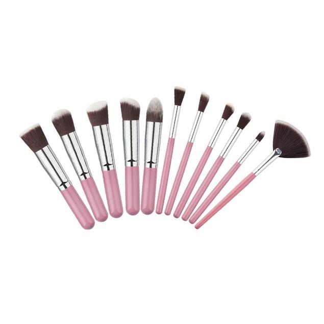 11Pcs Mini Cosmetic Eyebrow Eyeshadow Brush Makeup Brush Sets Kits Tools