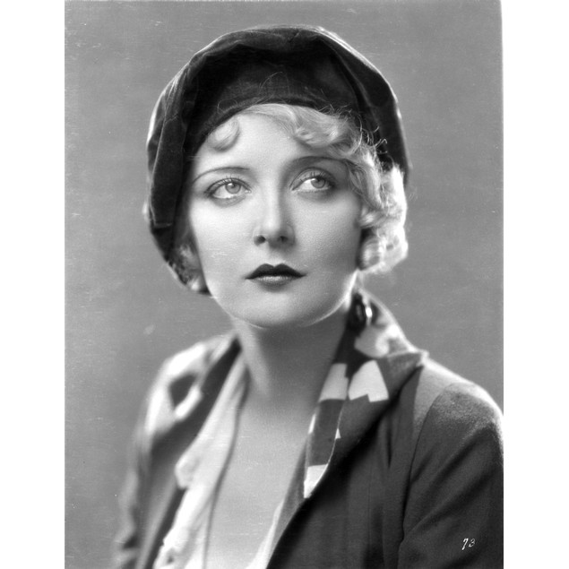 Mary Nolan on a Hat with Printed Collar Poster