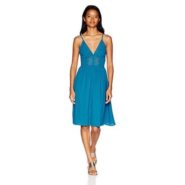 Volcom Women's Laser Lite Dress, Stormy Blue, XS