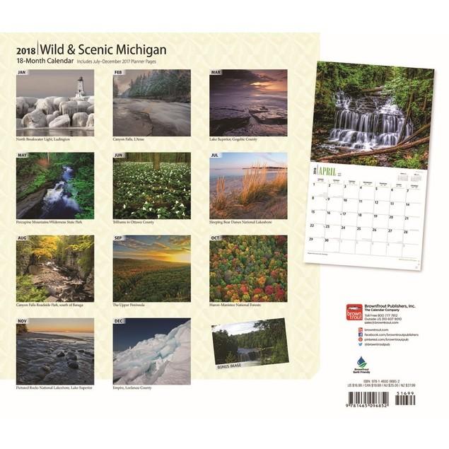 Michigan Wild and Scenic Wall Calendar, Michigan by Calendars